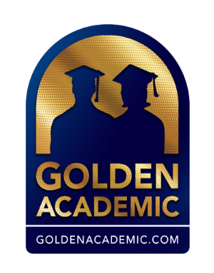 GOLDEN ACADEMIC LOGO BLUE TransParent Logo
